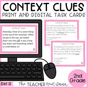 2nd Grade Context Clues Task Cards