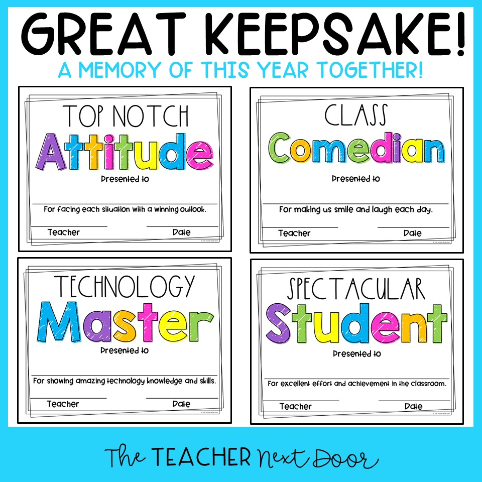 End Of The Year Awards Editable In Print And Digital The Teacher Next Door