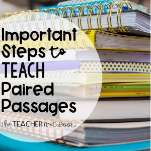 Important Steps to Teach Paired Passages Blog Cover