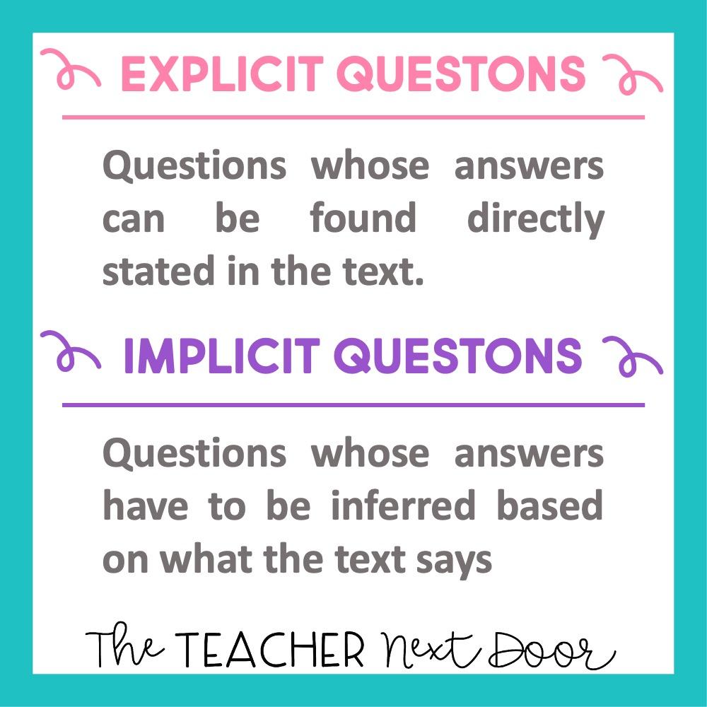 Explicit vs. Implicit Questions