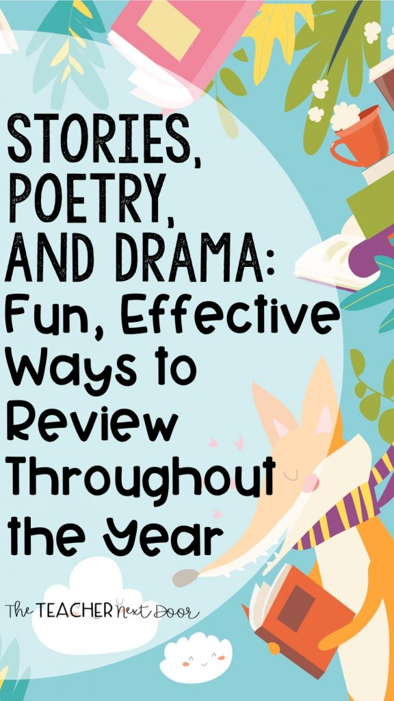 Stories, Poetry, and Drama Fun, Effective Ways to Review at the End of the Year Pin