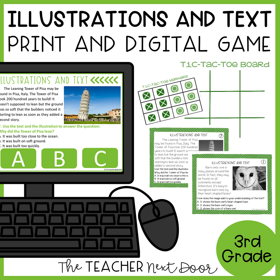 Illustrations and Text Game - 3rd Grade