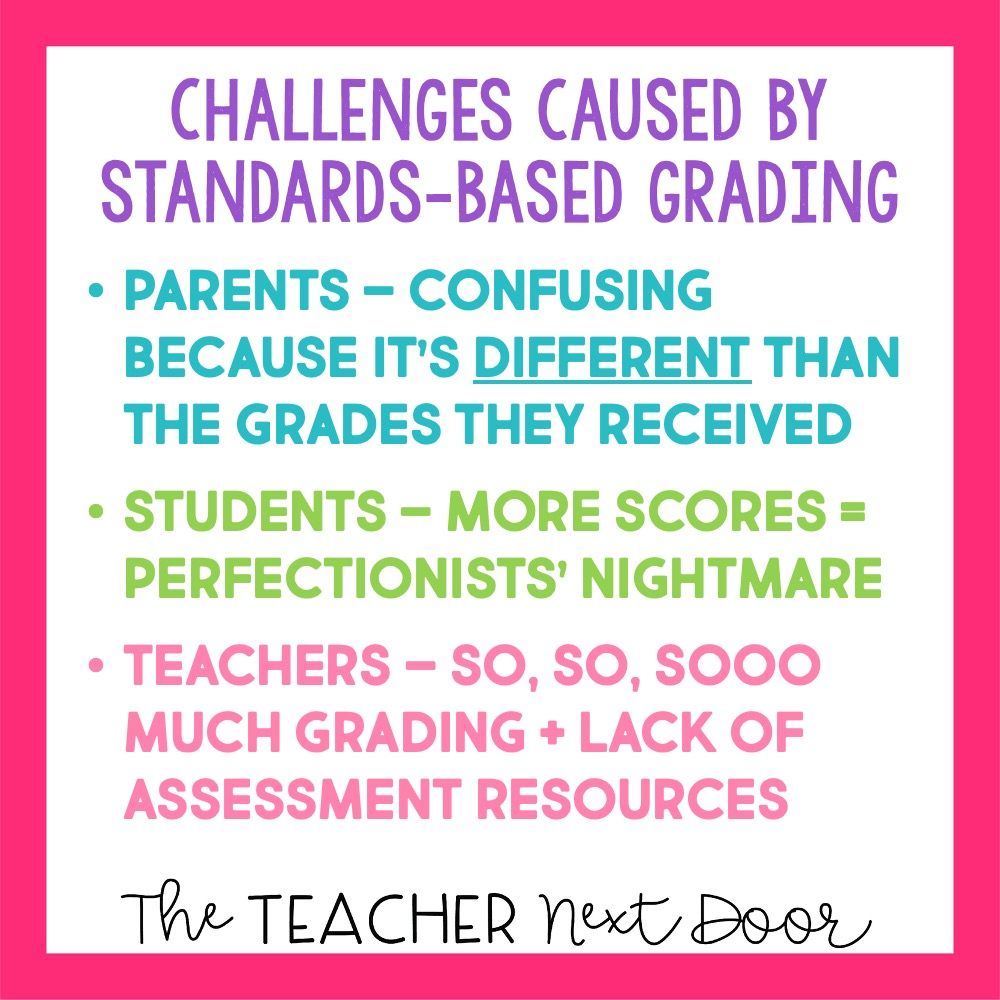 Challenges Caused By Standards-Based Grading