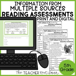 Information from Multiple Sources Standards-Based Reading Assessments 5th Grade