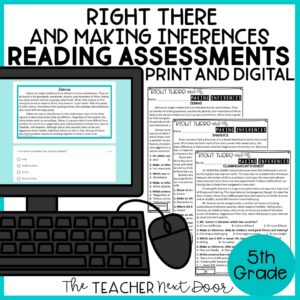 Right There and Making Inferences Standards-Bases Reading Assessments Nonfiction