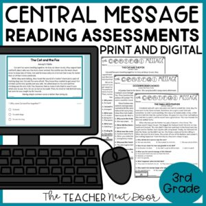 Central Message Reading Assessments for 3rd Grade