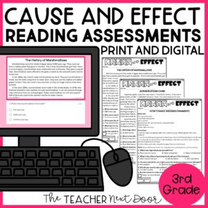 Cause and Effect Standards-Based Reading Assessments Nonfiction 3rd Grade
