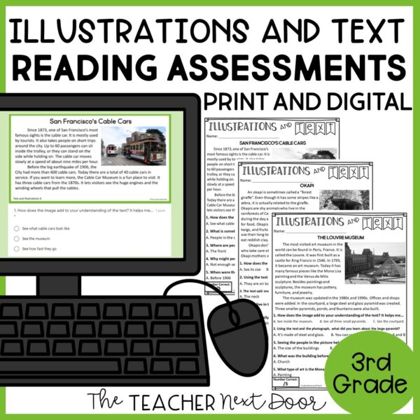 Illustrations and Text Standards-Based Reading Assessments Nonfiction 3rd Grade