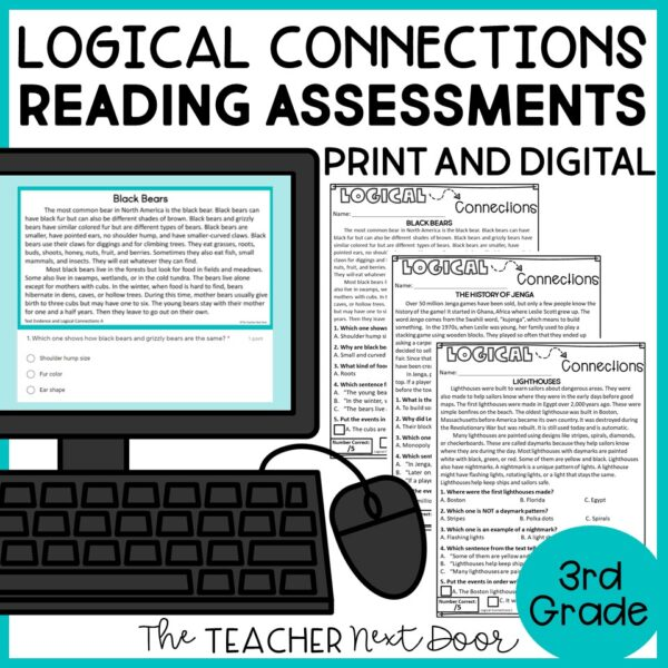 Logical Connections Standards-Based Reading Assessments 3rd Grade Nonfiction