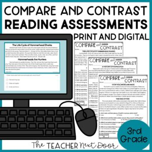 Compare and Contrast Standards-Based Reading Assessments 3rd Grade Nonfiction
