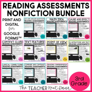 STandards-Based Reading Assessments Nonfiction for 3rd Grade