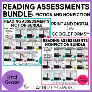 Standards-Based Reading Assessments Fiction and Nonfiction Bundle 3rd Grade