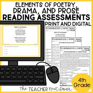 Elements of Poetry, Drama, and Prose Standards-Based Reading Assessments