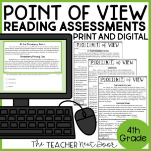 Point of View Standards-Based Reading Assessments Fiction 4th Grade