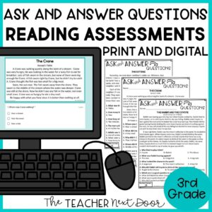 ASk and Answer Questions Reading Assessments 3rd Grade Fiction