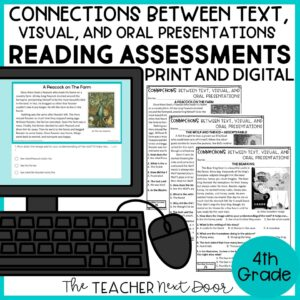 Connections Between Text and Visual Presentations Standards-Based Assessments 4th Grade