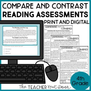 Compare and Contrast Standards-Based Reading Assessment 4th Grade