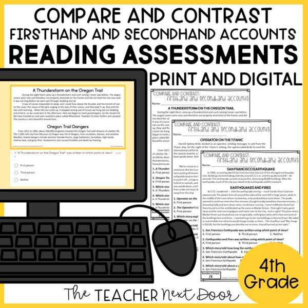 Compare and Contrast Standards-Based Reading Assessments Nonfiction 4th Grade
