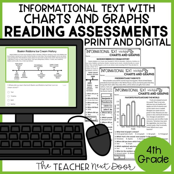 Informational Text Using Charts and Graphs Standards-Based Reading Assessments
