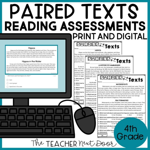 Paired Texts Standards-Based Reading Assessments Nonfiction 4th Grade