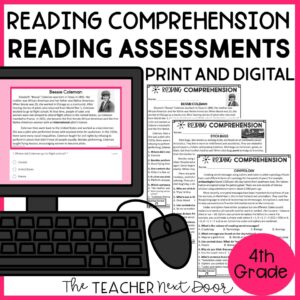 Reading Comprehension Standards-Based Reading Assessment 4th Grade Nonfiction
