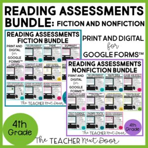 Standards-Based Reading Assessments Fiction and Nonfiction Bundle 4th Grade