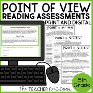 Point of View Standards-Based Reading Assessments for Fiction 5th Grade
