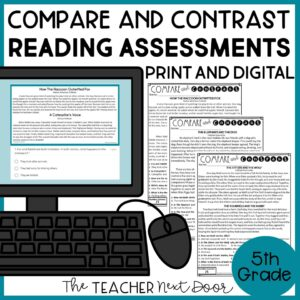 Compare and Contrast Standards-Based Reading Assessments for Fiction 5th Grade