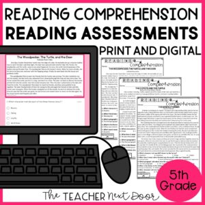 Reading Comprehension Standards-Based Reading Assessments for Fiction 5th Grade