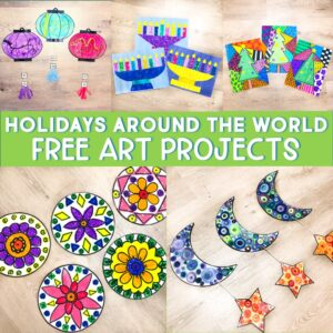 Holidays Around the World Art Projects Freebie from The Teacher Next Door