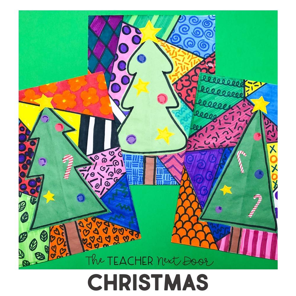 Holidays Around the World Christmas Tree Art Project
